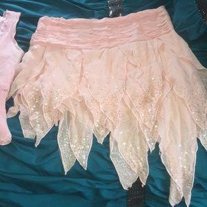 Light pink Bebe fairy skirt and shirt
